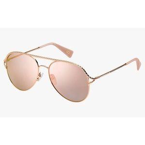 Marc Jacobs Aviator Sunglasses 168/S Rose Gold